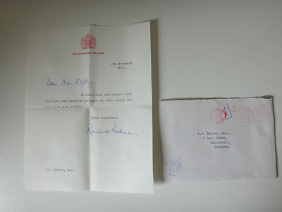 Letter Princess Anne Mark Phillips 1973 Buckingham Palace signed by secretary 72