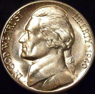 1940-S Jefferson Nickel Gem BU Uncirculated Full Steps