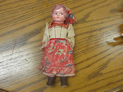 "Vintage 7"" Celluloid European Traditional Girl Doll"