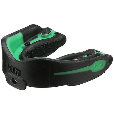 MoGo M1 Performance Flavored Sports Black Mouthguard - Adult - Mint