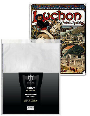 500 Max Pro 12 x 18 Print / Poster Archival Poly Soft Sleeves protectors holders