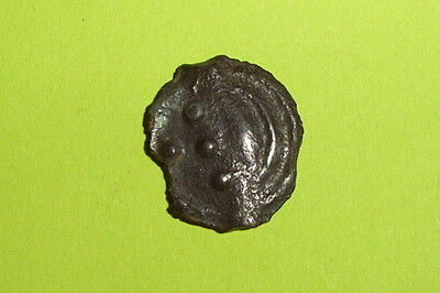 RARE Ancient CELTIC COIN boar AULERCI EBUROVICES 50 BC-30BC potin GAUL old Greek