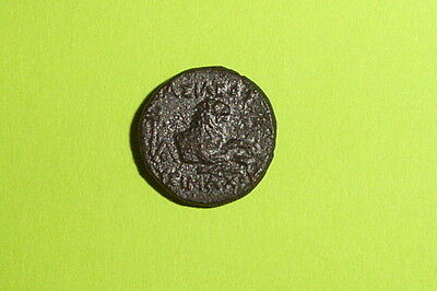 Authentic Ancient GREEK COIN lion Athena goddess LYSIMACHUS THRACE mythology vf