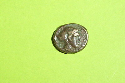 RARE Ancient GREEK COIN nymph PHALANNA THESSALY 400 BC-344BC sakkos Sear 2180 vf