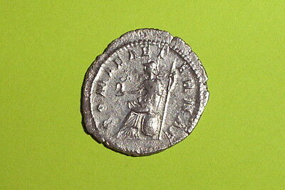 Ancient ROMAN SILVER COIN goddess GORDIAN III shield Roma spear Victory old VF