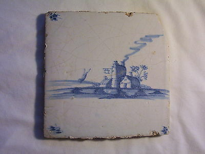 Delft Tile c. 18th  century cottage