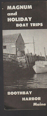 Magnum & Holiday Boat Trips 1959 Brochure Boothbay Harbor Maine