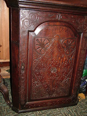 Fabulous Georgian Corner Cupboard With Carvings
