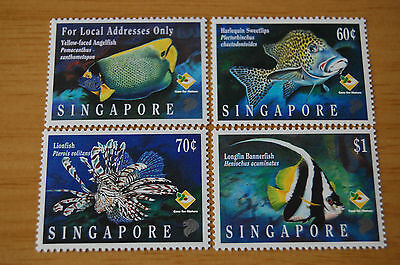Fish Singapore 1995 Set Of Four Stamps MNH Fishes
