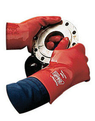 1 Dz Showa Best 728R Hustler Red Pvc Gloves 18 Inch