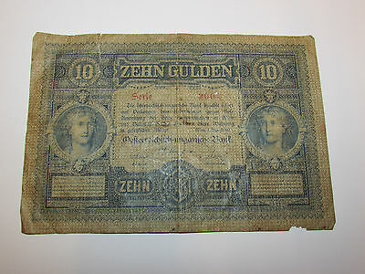 Austro-Hungarian Bank 10 Gulden / 10 Forint Banknote - 1880