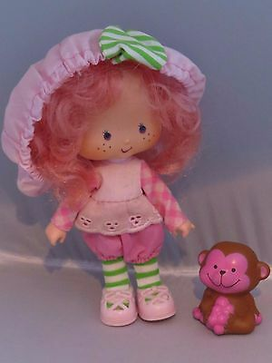 Vintage Strawberry Shortcake Raspberry Tart doll & pet Rhubarb monkey