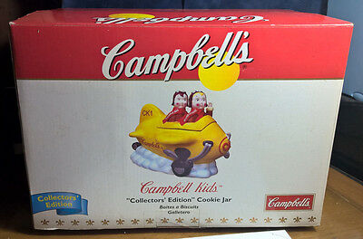 Campbell's Kids ~ Collectors Edition ~ Cookie Jar ~ Aiming High Ii ~ Sealed New!