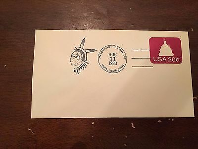 1983 Mesquakie Pow-Wow Station Tama Iowa Postmark Cover