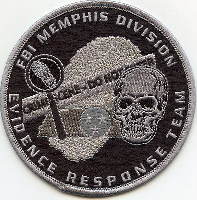 FBI MEMPHIS TENNESSEE TN EVIDENCE RESPONSE Crime Scene CSI gray POLICE PATCH
