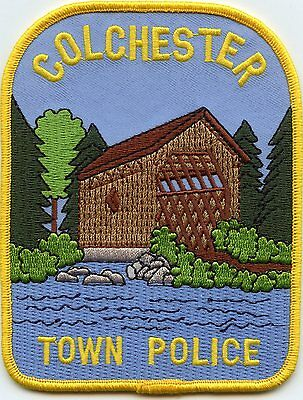 COLCHESTER NEW YORK NY Covered Bridge TOWN POLICE PATCH