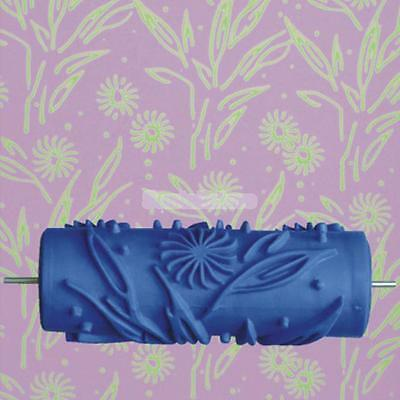 15cm Wall Decoration Empaistic Flower Pattern Painting Roller for Paint Machine