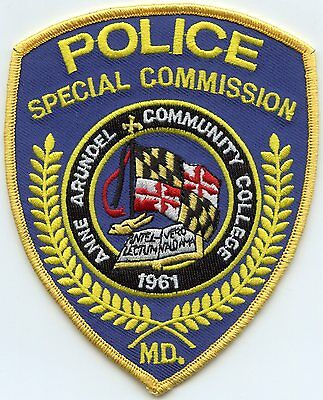 ANNE ARUNDEL COMMUNITY COLLEGE MARYLAND MD Special Commission POLICE PATCH
