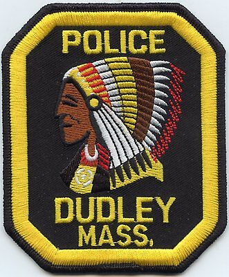 DUDLEY MASSACHUSETTS MA indian POLICE PATCH