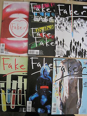 FAKER : COMPLETE 6 ISSUE SERIES by MIKE CAREY & JOCK. DC VERTIGO. 2007