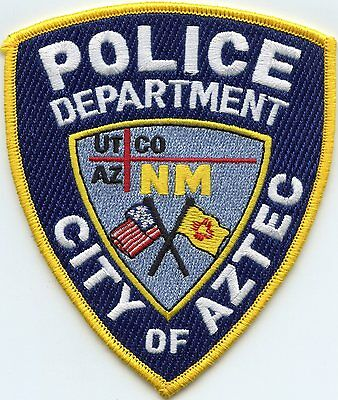 Aztec New Mexico Nm Police Patch