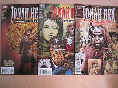 JONAH HEX, SHADOWS WEST :COMPLETE 3 ISSUE SERIES by LANSDALE,TRUMAN.VERTIGO.1999