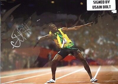 Usain Bolt - Olympic Gold Medalist - Stunning Extra Large Signed Colour Photo