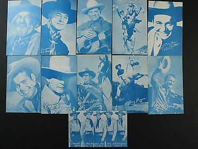 LOT of 11 CIRCA1940s-1950s WESTERN STARS ARCADE CARDS (NOS) NEW OLD STOCK~CM174