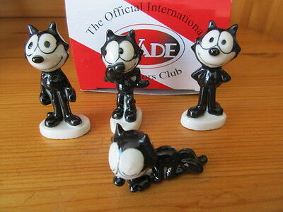 Set Of 4 Wade Felix The Cat Whimsies  Boxed