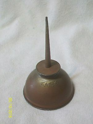 "Vintage Eagle Thumb Press Oil Can - 6"" High - Clean - Mid-Century"