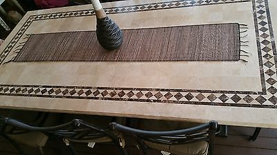 Very Long Bamboo wooden Table Runner indoor or outdoor 180 cm long NEW