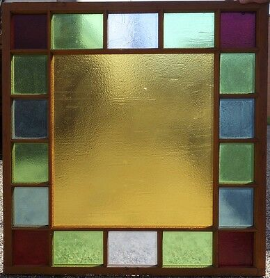 Antique Louisville Train Station Sand Cast Glass Window 42x44 FREE SHIP Stained