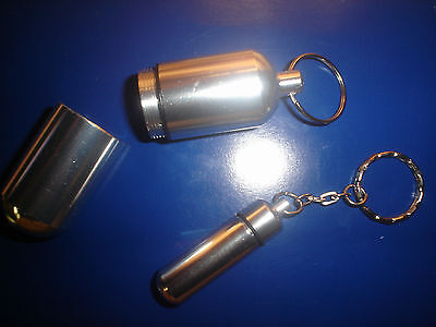 1 Jumbo  Pill Container  & 1 Small Pill Container  Key Chain ~ 2 Total