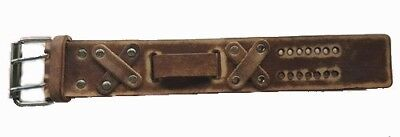 Retro Brown Leather Watch Band for Men - Metal Buckle Close NEW - USA MADE
