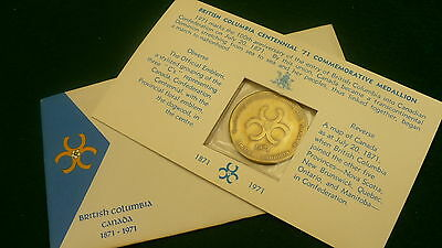 British Columbia Centennial 1871 1971 token 100 years coin confederation package