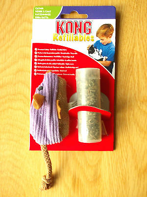 Kong Refillables Cat Toy - Cuddly Mouse & Tube Of Catnip - New