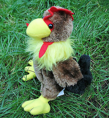 Soft Fluffy Plush Chicken Cockerel Rooster Soft Toy 10 inches High