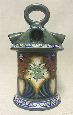RARE GOUDA POTTERY HOLLAND LANTERN CANDLE HOLDER LAMP - ART DECO 1920s 30s