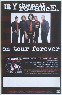 "MY CHEMICAL ROMANCE ""ON TOUR FOREVER"" U.S. PROMO POSTER - Alternative Rock Music"