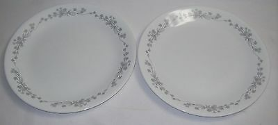 Pair Corelle  Ribbon Bouquet Dinner Plates,  No Chips Or Cracks - Free Shipping