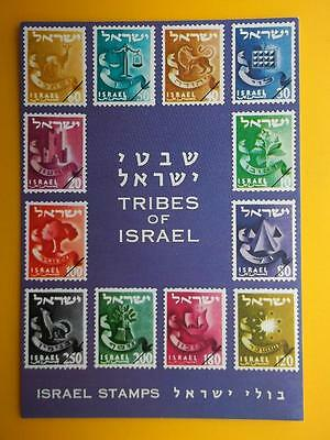 Tribes of Israel Stamps - Palphot Postcard c1960s Jewish Judaica Interest