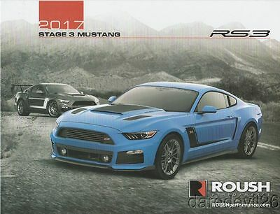 2017 Roush Performance Ford Mustang Stage 1 2 3 RS SEMA Show Brochure/Poster