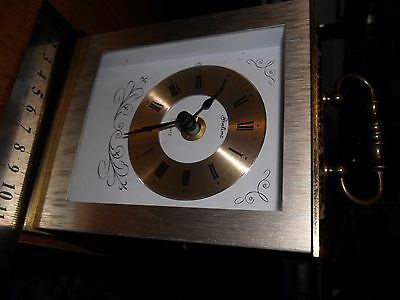 Nice 1970S Bentima Retro/vintage Brass Carriage/mantle Quartz Clock,,germany,vgc