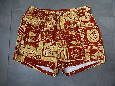 Vtg 50s Hawaii Hawaiian Swim Trunks/Shorts Men's sz M Swimming Suit