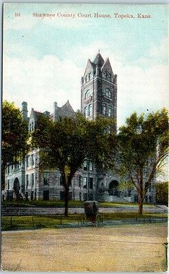 Topeka, Kansas Postcard SHAWNEE COUNTY COURT HOUSE c1920s Unused