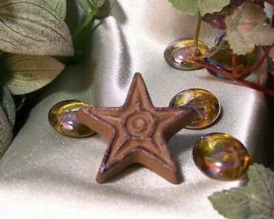 Cast Iron Star Drawer Pull W/Screws {BOX OF 10} Cabinet Door Knob CRAFTS Brown