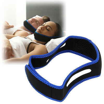 Anti Snore Chin Strap Sleep Apnea Molar Jaw Brace Stop Snoring Device Nylon