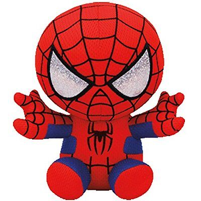 TY Marvel Spider-man Plush NEW! Beanie Baby Boo Avengers