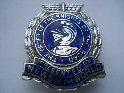 C1960S The Order Of The Knights Of The Road Presented By News Of The World Badge