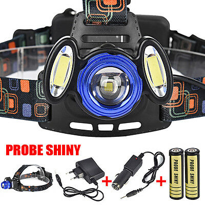 15000LM 3x XML T6 Rechargeable Headlamp Headlight Torch USB Lamp+ 18650+ Charger